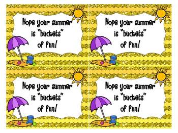 Summer Bucket Labels!!!