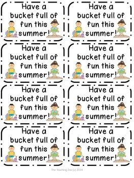 Summer Buckets of Fun Tags {FREEBIE!!}