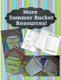 Summer Bucket Pail Glyph and Writing Activity - Center and Craft