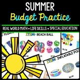 Summer Budget - Special Education - Shopping - Life Skills - Money - Math