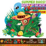 Summer Bugs Illustration Clip Art