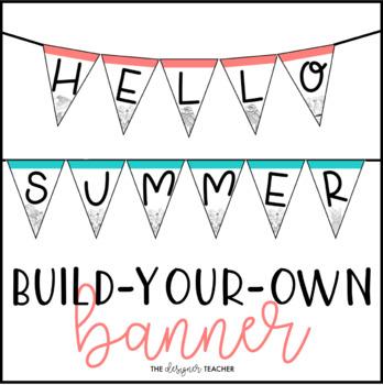 summer banner letter pennants build your own by the designer teacher