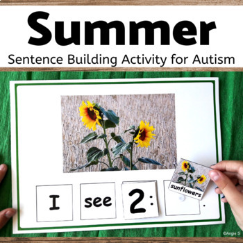 Summer Building Sentences Activity for Speech Therapy