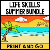 Summer Bundle - Special Education - Life Skills - Print and Go - Reading - Math