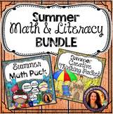 Summer Activity Bundle: Summer Math Pack & Summer Creative