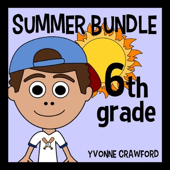 Summer Bundle for 6th Grade Endless