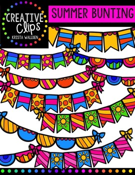 Summer Bunting {Creative Clips Digital Clipart}