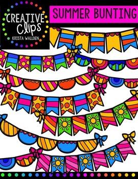 Summer Bunting {Creative Clips Digital Clipart}