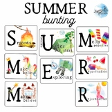 Summer Bunting, Hanging Banner, Summer Decorations