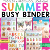 Summer Busy Binder for Toddler & Preschool - Busy Book / L