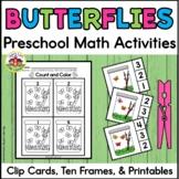 Summer Butterfly Math Activities for Preschool
