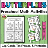 Summer Counting Clip Cards with Number Sense Printables: Counting Butterflies