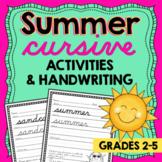 Summer CURSIVE Handwriting Practice - summer handwriting w