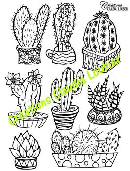 Summer Cactus - Arts Lesson Plan - Engraving
