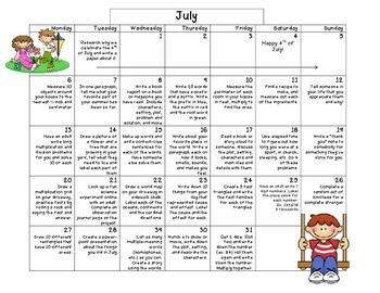 Summer Calendar 2015