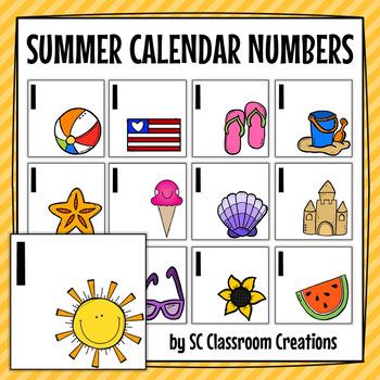 Summer Calendar Cards