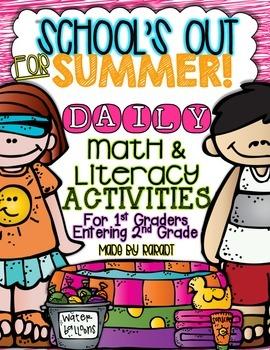 Summer Calendar Homework Challenge {For 1st Graders Entering 2nd Grade}