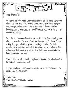 Summer Calendar Homework Challenge {For 2nd Graders Entering 3rd Grade}