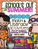 Summer Calendar Homework Challenge {For 2nd Graders Enteri
