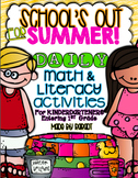 Summer Calendar Homework Challenge {For Kindergarteners Entering 1st Grade}