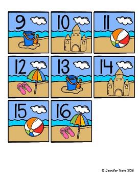 Summer Calendar Numbers