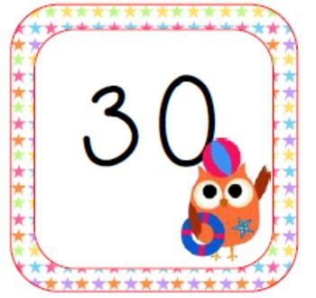 Summer Calendar Owls
