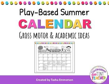 Summer Calendar Suggestions {Motor Skills & Academic Skills}
