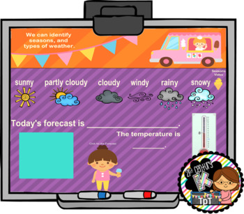 Summer Calendar for SMART Board PK, K, 1st