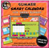Interactive Calendar for SMART Board PK, K, 1st - Summer Theme