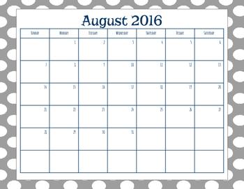 Summer Calendars