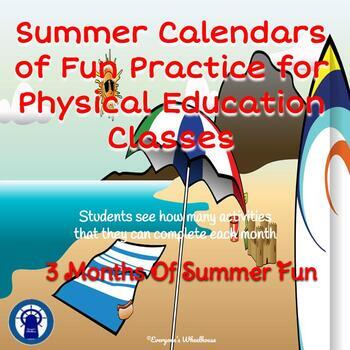Summer Calendars of P.E. Fun
