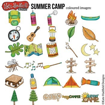 "Camping Clip Art: ""Summer Camp"""