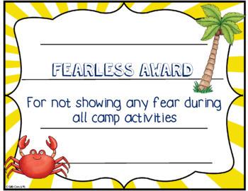 Camp Certificates Beach