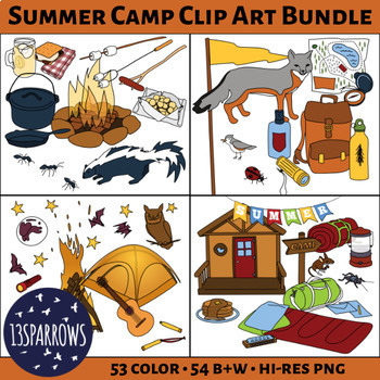 Summer Camp Clip Art Bundle