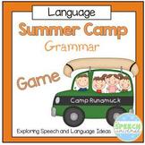 Summer Camp Grammar Game