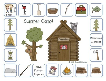 Summer Camp Grammar Game