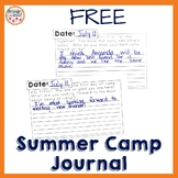 Summer Camp Journal Writing Freebie
