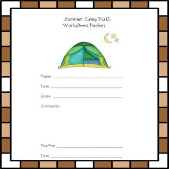 Summer Camp Math: Shapes & Basic Facts Worksheets