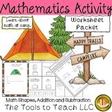 Math Shapes & Basic Facts Summer Camp Worksheets
