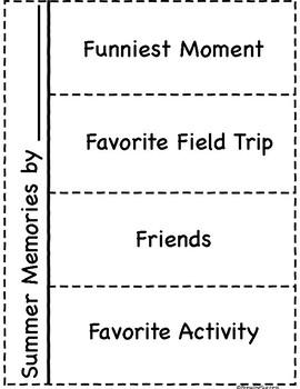 Summer Camp Memory Flip Book