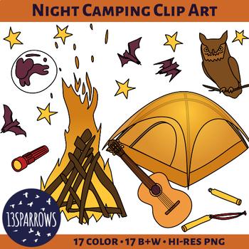 Night Camping Clip Art