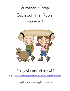 Summer Camp Subtract the Room (Minuends to 10)