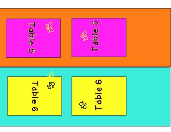 Summer Camp: Table Tent Number Cards