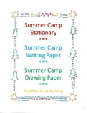 Summer Camp Writing Paper - Summer Camp Stationary - Camp Drawing Paper