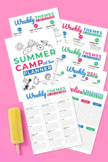 Summer Camp at Home Planner printable