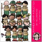 Summer Camp kidlettes clip art - by Melonheadz