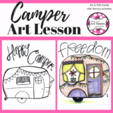 Summer Camper Art Lesson for Kids (Emergency Sub Plans) End-of-Year Art Project