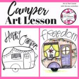 Summer Camper Art Lesson for Kids (Emergency Sub Plans) En