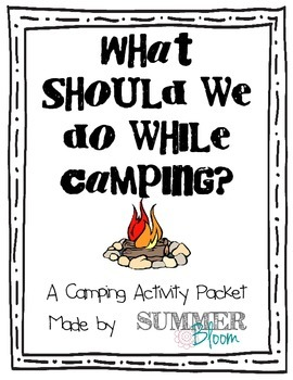 Summer Camping Activity Packet