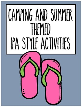 Summer & Camping Themed IPA Style Activities